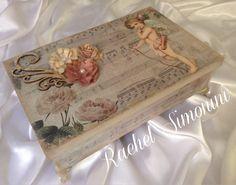 Caixa Anjo -arte com scrapbox -Rachel Simonini