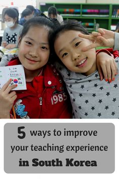 Great tips for teaching experience in South Korea.
