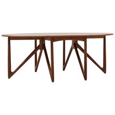 Kurt Østervig Gate Leg Dining Table by Jason Møbler in Denmark | From a unique collection of antique and modern dining room tables at https://www.1stdibs.com/furniture/tables/dining-room-tables/