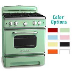 Jadite Green vintage style stove