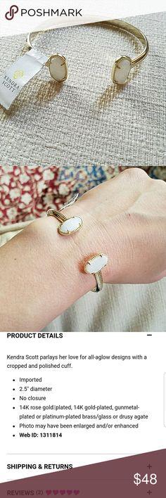 Kendra Scott bracelet Gold bracelet by Kendra Scott Never worn and brand new Product details in 3rd picture Kendra Scott Jewelry Bracelets
