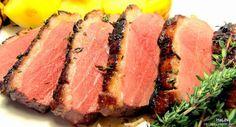 Nejedlé recepty: Kachní prsa na medu, citronu a tymiánu Tuna, Poultry, Steak, Roast, Food And Drink, Favorite Recipes, Fish, Russian Recipes, Inspiration