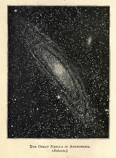 vintage astronomy print - The Great Nebula in Andromeda (Roberts)