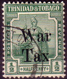 Trinidad and Tobago 1918 WAR TAX Overprint SG 187 Fine Mint Scott MR12 Other Trinidad and Tobago Stamps HERE