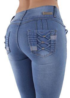fcdbf5cf3d4 Q144 - Colombian Design- Butt Lift- Levanta Cola- Skinny Jeans - CE188R62RUT