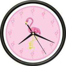 my flamingo kitchen- Flamingo Wall Clock Pink Flamingos Kitchen Decor Gift