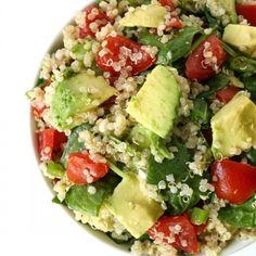 Quinoa Avocado Spinach Power Salad HealthyAperture.com