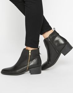 Image 1 of Oasis Zip Side Ankle Boots
