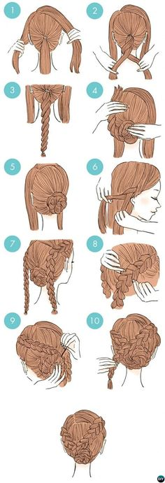 Side Braid Twisted Bun Hairstyle-20 Easy Busy Morning Hairstyles For Short Mid Long-Length Hairs #BunHairstylesSide