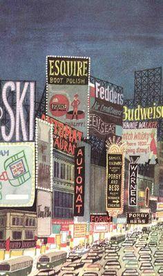 #1- Illustration by Miroslav Sasek , 1960, This is New York.