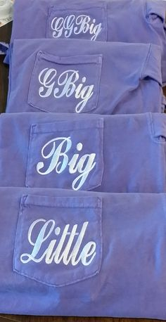 Embroidered Greek Family Sorority Shirts for Big Little Reveal by The Initialed Life
