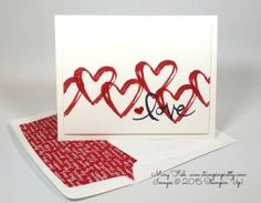 Stampin Up Watercolor Words Itty Bitty Accents Epoxy Stickers Hearts Border Punch Love & Friendship Card Ideas Mary Fish Stampin Pretty Stampinup Demonstrator Blog