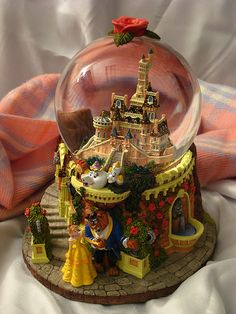 Beauty and the Beast Castle Snow Globe