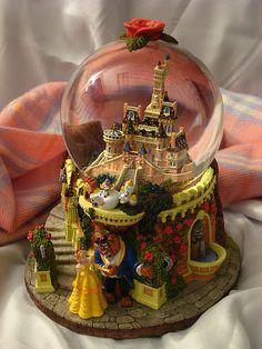 Beauty and the Beast Castle Snow Globe