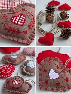 felt ornaments, garland