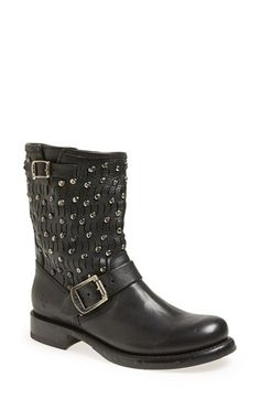 sexy motor boot  Frye 'Jenna Cut Stud' Short Boot (Women) available at #Nordstrom