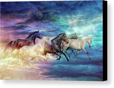 Herd Of Horses In Pastel Canvas Print Canvas Art by Lilia D : Herd Of Horses In Pastel Canvas Print by Lilia D. All canvas prints are professionally printed, assembled, and shipped within 3 4 business days and delivered ready to hang on your wall. Pretty Horses, Beautiful Horses, Canvas Art, Canvas Prints, Art Prints, Horse Artwork, Horse Paintings, Painted Pony, Horse Drawings