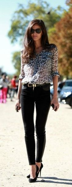 Black pants and cheetah win.