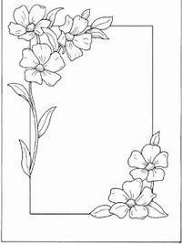 Hand Embroidery and Its Types - Embroidery Patterns Page Borders Design, Border Design, Flower Patterns, Flower Designs, Flower Borders, Drawing Borders, Doodle Borders, Doodle Patterns, Borders For Paper