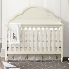 Bellissimo Convertible Crib in Seashell White from PoshTots