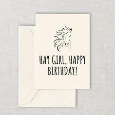 Printable Horse Lover Birthday Card