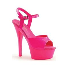 The Kiss is an eye catching sandal that will glow under blacklight. It features a stiletto heel, a 1 platform, and an adjustable ankle strap. Heel Height: Origin: Imported Fit: True to S Pink Sandals, Pink Shoes, Women's Shoes Sandals, Pumps Heels, Stiletto Heels, Wrap Shoes, Hot High Heels, Platform High Heels, Stripper Heels