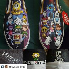 Behind The Scenes By lucha_loafers Custom Vans, Custom Sneakers, Undertale Hearts, Toby Fox, Behind The Scenes, Loafers, Awesome, Amazing, Classic