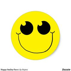 Happy Smiley Face 1 Classic Round Sticker