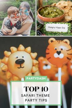 Best safari birthday party ideas, animal headbands, animal cake pops, hungry hippo chips and dips, safari game ideas, safari birthday party decorations, safari party foods, jungle theme birthday party ideas, jungle party Safari Party Foods, Safari Game, Safari Theme Party, Jungle Party, Jungle Theme Birthday, Birthday Party Themes, Game Ideas, Party Ideas, Safari Party Decorations