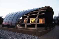 Students from Chalmers University of Technology in Sweden designed HALO, a passive solar powered home.