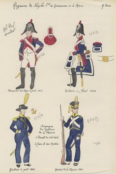 Royaume de Naples Compagnie de gendarmerie de la marine