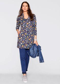 Longshirt, bpc bonprix collection, grijs gemêleerd gedessineerd