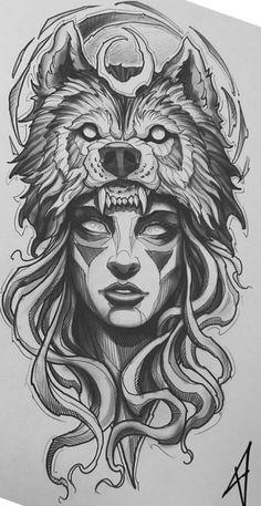 Arm Tattoos Drawing, Tattoo Design Drawings, Tattoo Sketches, Body Art Tattoos, Aztec Tattoo Designs, Tattoo Sleeve Designs, Sleeve Tattoos, Warrior Tattoos, Viking Tattoos
