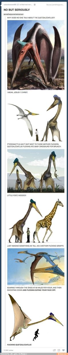 The Quetzalcoatlus, mightier than the pterodactyl.