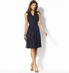 Shannon Silk Polka Dot Dress - RalphLauren.com from ralphlauren.com