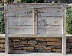 Rustic Headboard Farmhouse Painted and Heavy Distressed, Custom Headboard By Foo Foo La La Rustic Wood Headboard, Custom Headboard, Diy Headboards, Rustic Furniture, Distressed Headboard, King Headboard, Full Headboard, Headboard Designs, Headboard Ideas