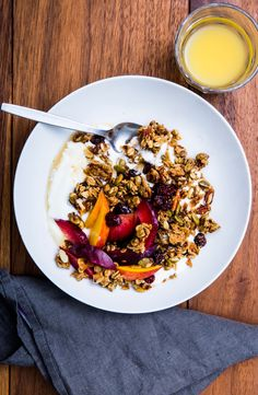 If you chop up the granola in a food processor, you can sprinkle it on fruit or ice cream or dip ice pops into it.