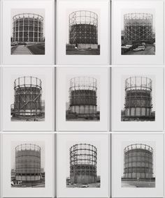 Artwork page for 'Gas Tanks', Bernd Becher and Hilla Becher, Architecture Exam, Industrial Architecture, Industrial Photography, Art Photography, Creative Photography, Bernd Und Hilla Becher, Andreas Gursky, Tate Gallery, Architectural Photographers
