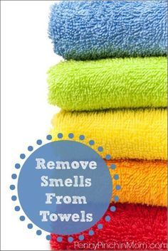 Remove Smells From Towels. If your towels are not smelling nearly as fresh as they once did, you might have build up! Find out how to strip them clean and get those pesky odors out of them once and for all!