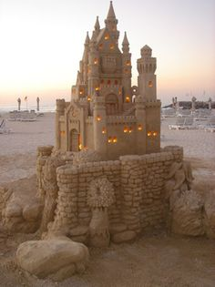 These sand castles are amazing works of art.