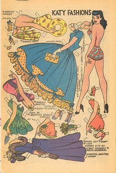 Katy Keene Paper Doll 1956  OMG, I had all of her comics & paper dolls