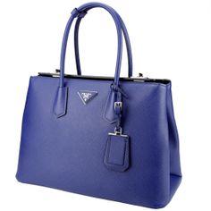 #Prada shopper indigo blue saffiano leather, from autumn winter 2014. From Wunderl in Austria. www.wunderl.com