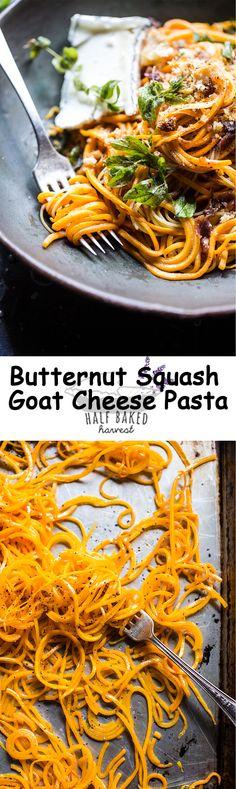 Butternut Squash Goat Cheese Pasta | halfbakedharvest.com @hbharvest