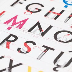 'Alphabet of Typography' is just one of @popchartlab's lithographs