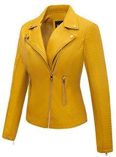 Faux Leather Casual Jacket T Shirt Crop Top, Crop Top And Leggings, Winter Jackets Women, Coats For Women, Leather Shorts, Leather Jacket, Moto Jacket, Black Slacks, Cute Jackets