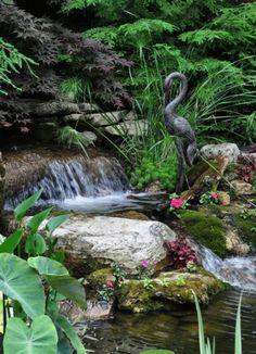 Cascade et  fontaine de jardin , 69 déco pour les moments de relaxe - cscqde-nqturel-our--jardin-cool