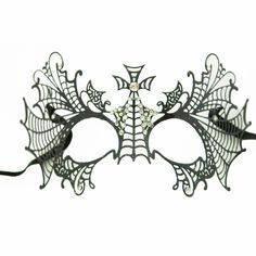 These black metal venetian half masks are the newest in PartySuppliesDelivered line of great black metal masks.  No masquerade ball is complete without some beautiful masquerade masks to go with it. Whether you are dressing up for your school prom or homecoming or just having a great made grass or carnival party to celebrate, you can't go wrong with our great selection of venetian masks, masquerade half masks, deluxe metal half masks or any of our full face masquerade masks.  $21.84