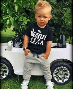 2pcs Baby Boy Kids Short Sleeve T-shirt Tops +Pants Outfit Clothing Set Suit
