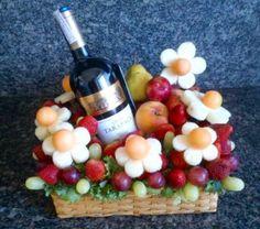 Vino y frutas