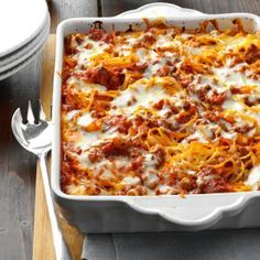 Mozarella Baked Spaghetti